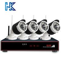瀚晖威视 4路960P3X自动变焦无线高清套装  HK-7104/13-F3